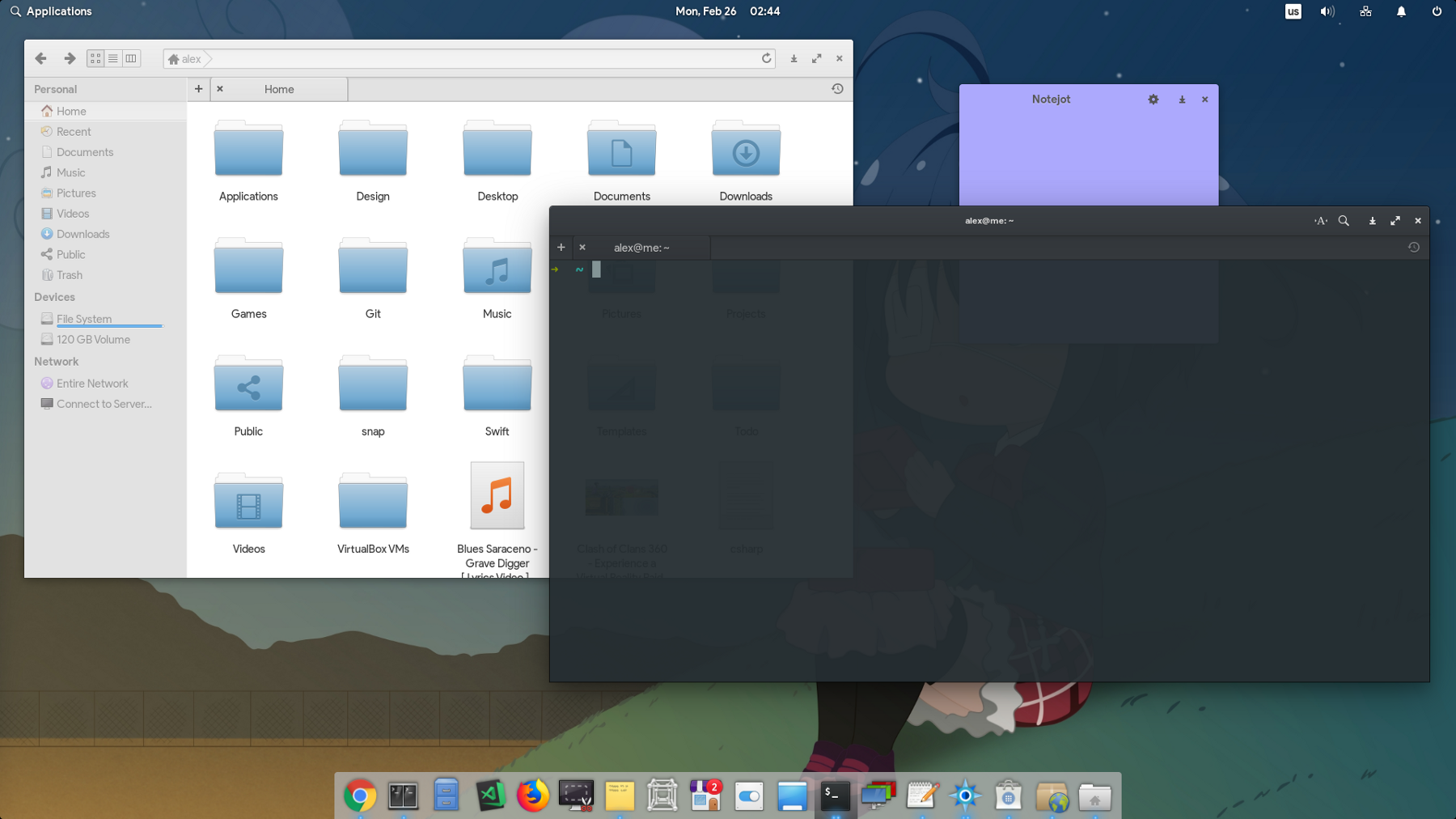 elementary OS интерфейс