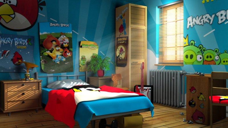 Дизайны геймерских комнат или интерьеры в стиле видеоигр