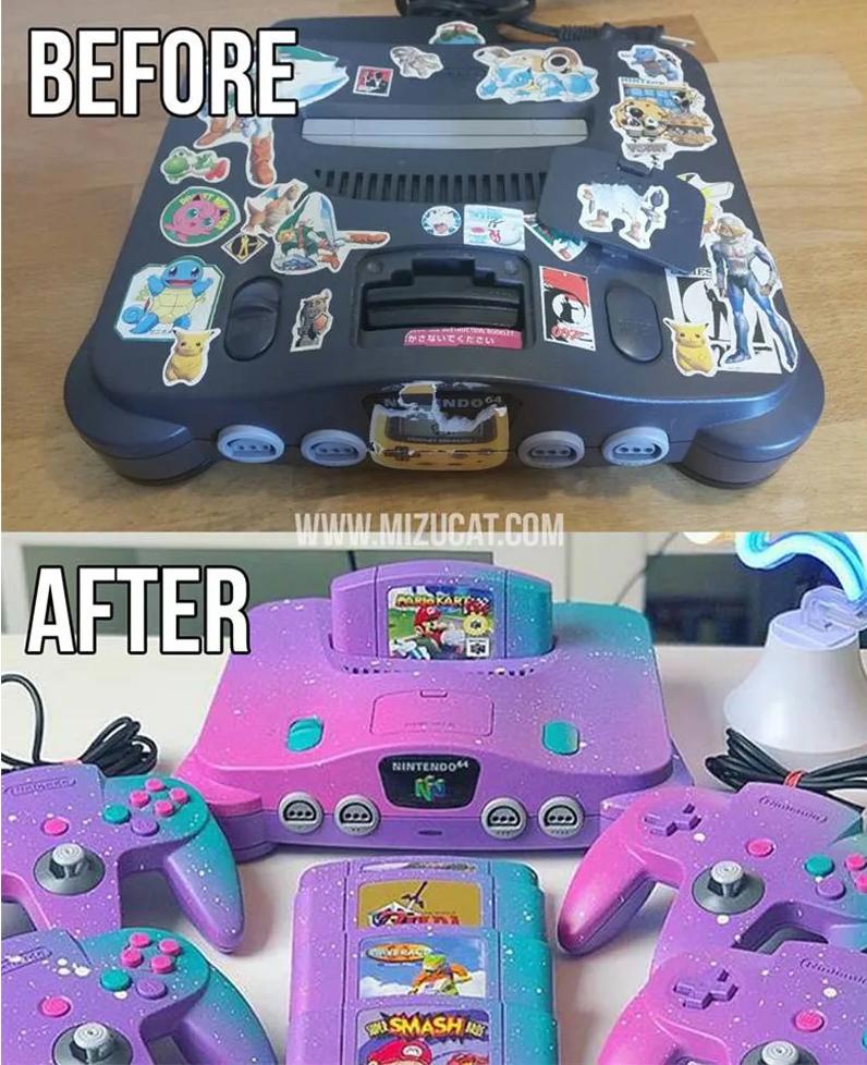 Художник покрасил Nintendo 64. Выглядит волшебно